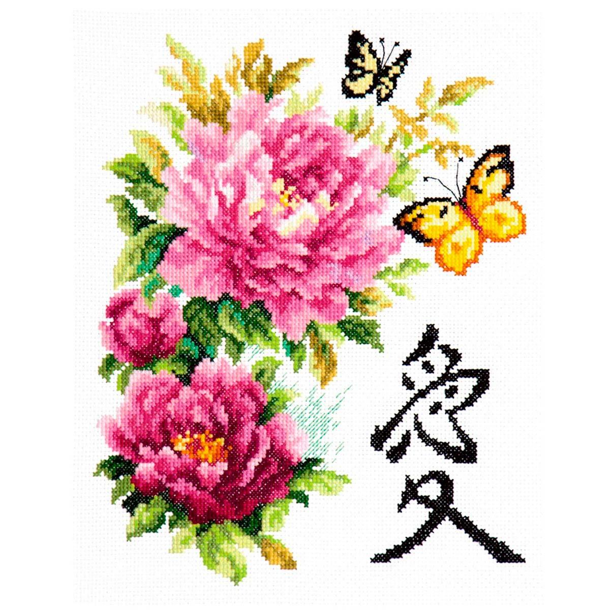 87-01 Набор для вышивания 21*25см (Любовь) 'Чудесная игла'