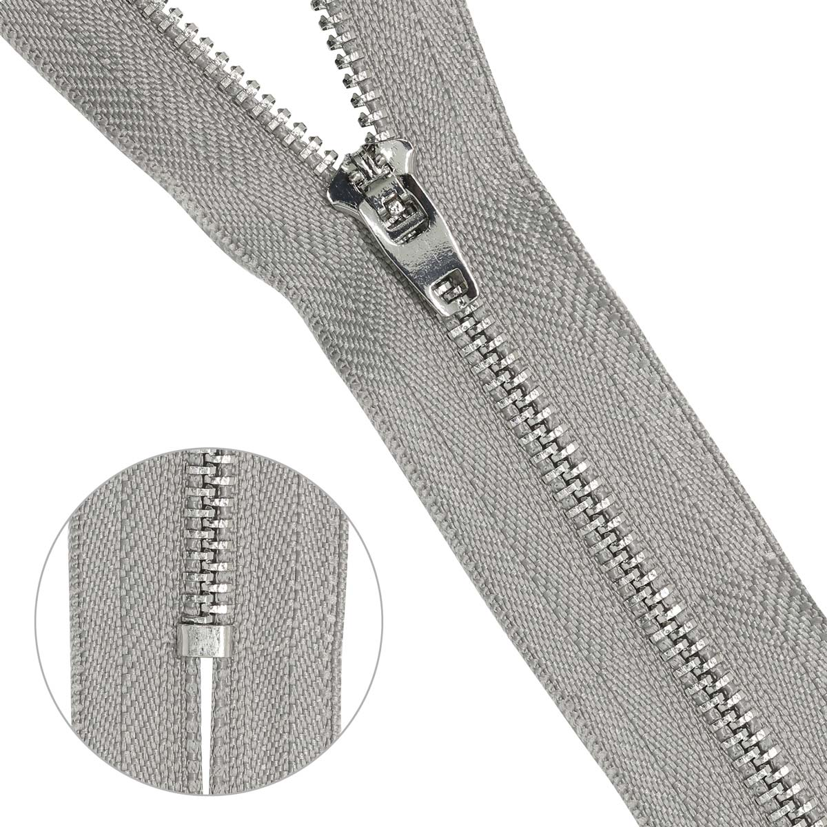 Молния джинсовая нераз.никель,т4 p/l 12см