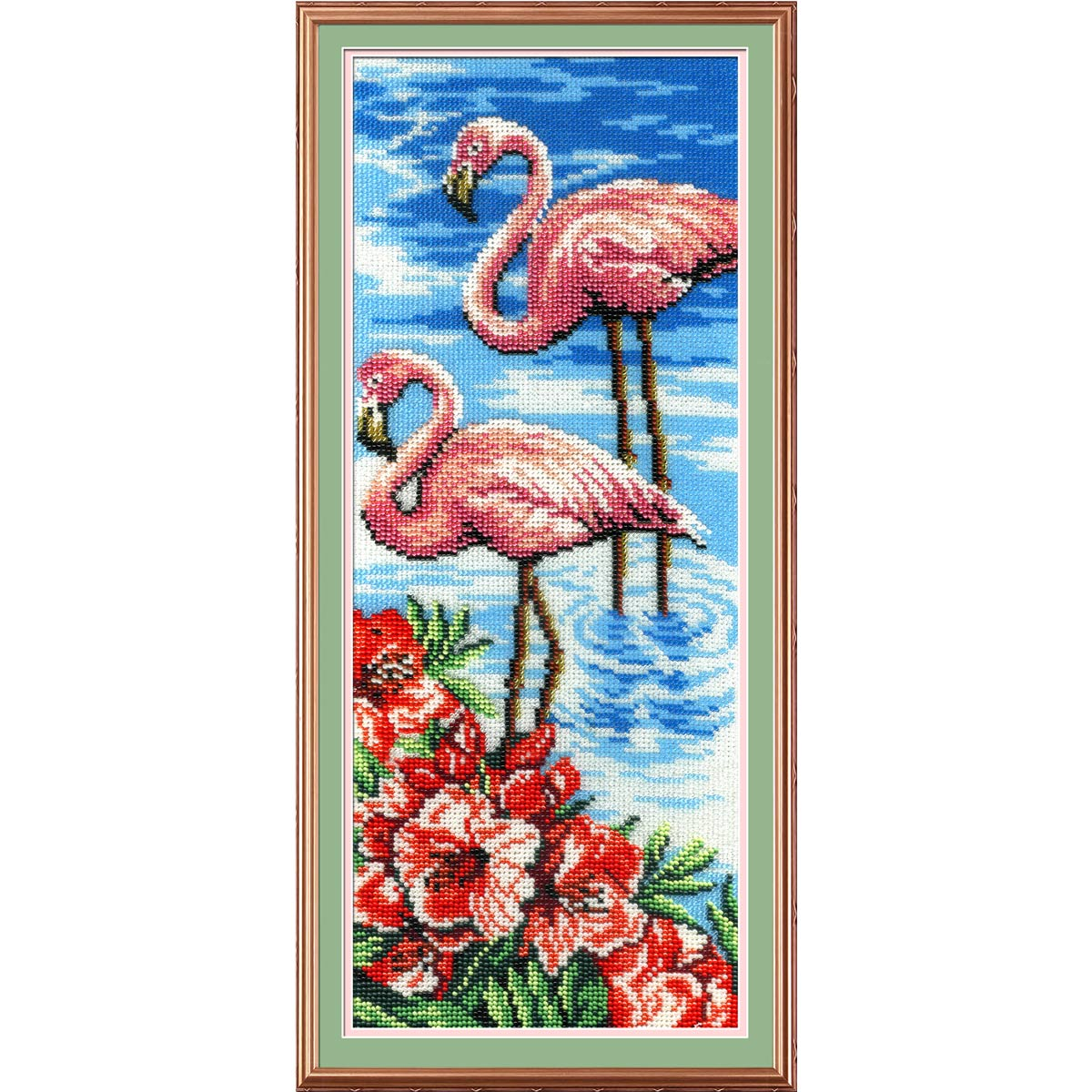 БГ-181 Набор для вышивания 'МП Студия' 'Фламинго', 40х15 см
