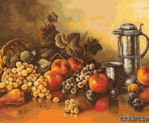 G-1002 Набор для вышивания 'Гобелен Классик' 'Натюрморт с персиками', 28,5х24 см