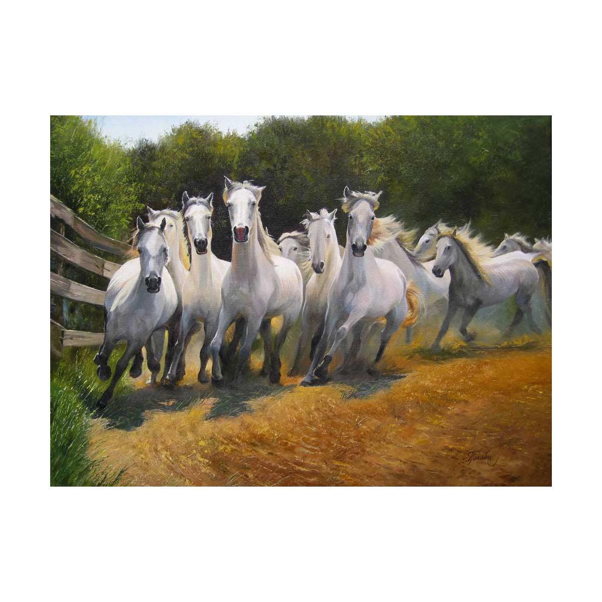 G-1114 Набор для вышивания 'Гобелен Классик' 'Бегущие лошади', 23х31,9 см