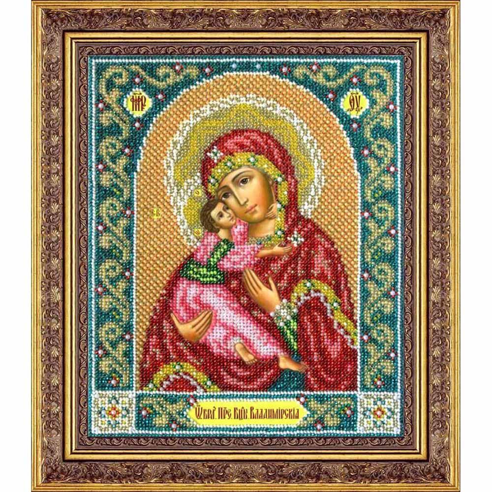 Б1014 Набор для вышивания бисером 'Паутинка' 'Пресвятая Богородица Владимирская', 23х19,5 см