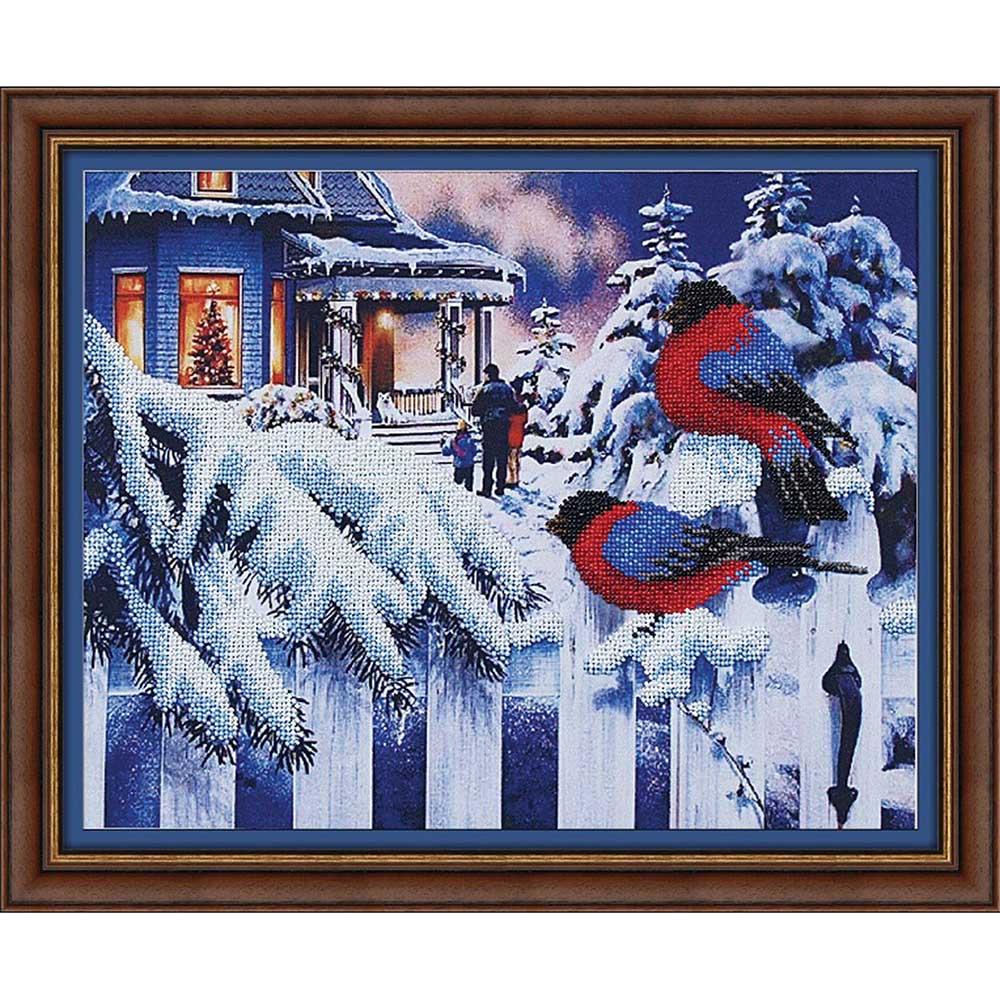 Б-013 Набор для вышивания бисером 'Магия канвы' 'Вестники зимы', 37х27 см