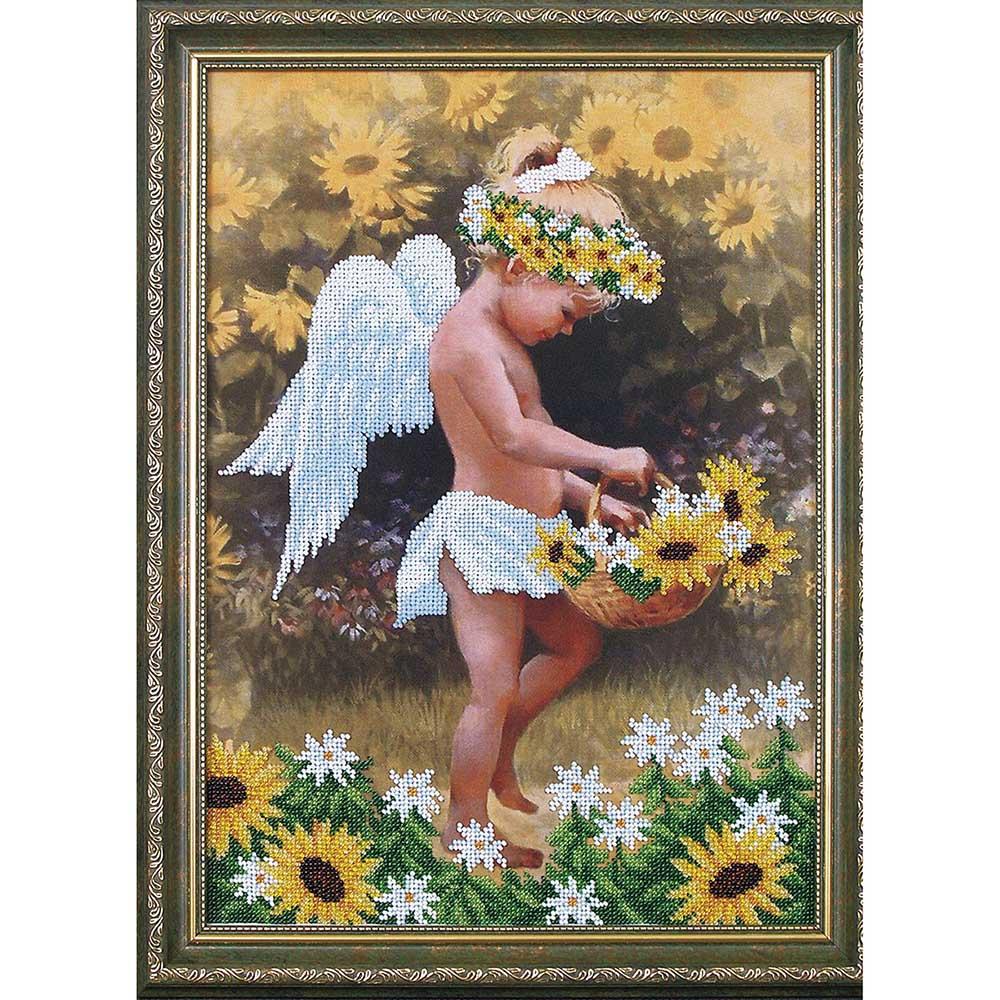 Б-017 Набор для вышивания бисером 'Магия канвы' 'Мой ангел', 27х38 см