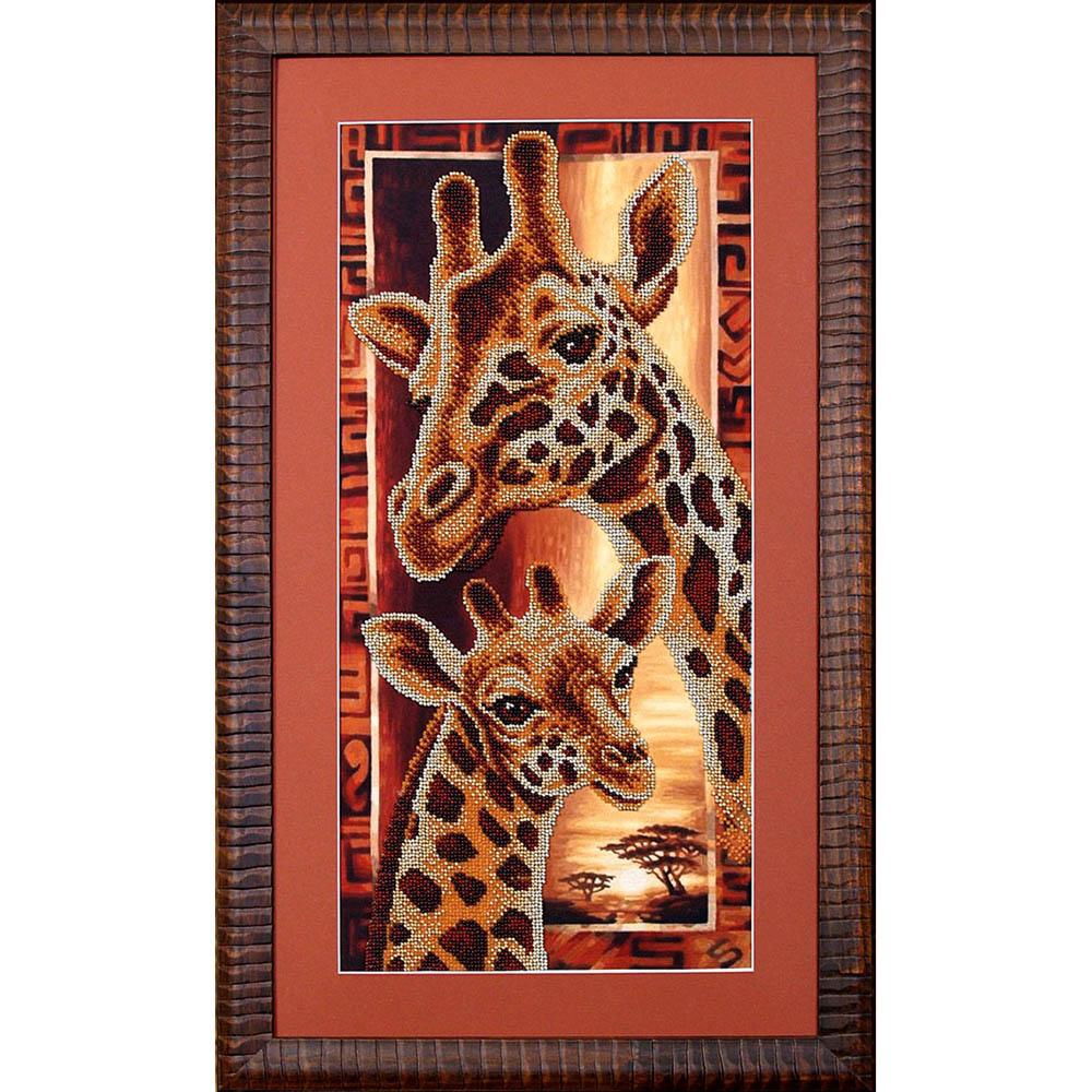 Б-057 Набор для вышивания бисером Магия канвы 'Африка: Жирафы', 22х46 см