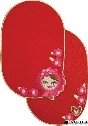 929152 Заплатки детские 'Девочка' . красный цв. Prym