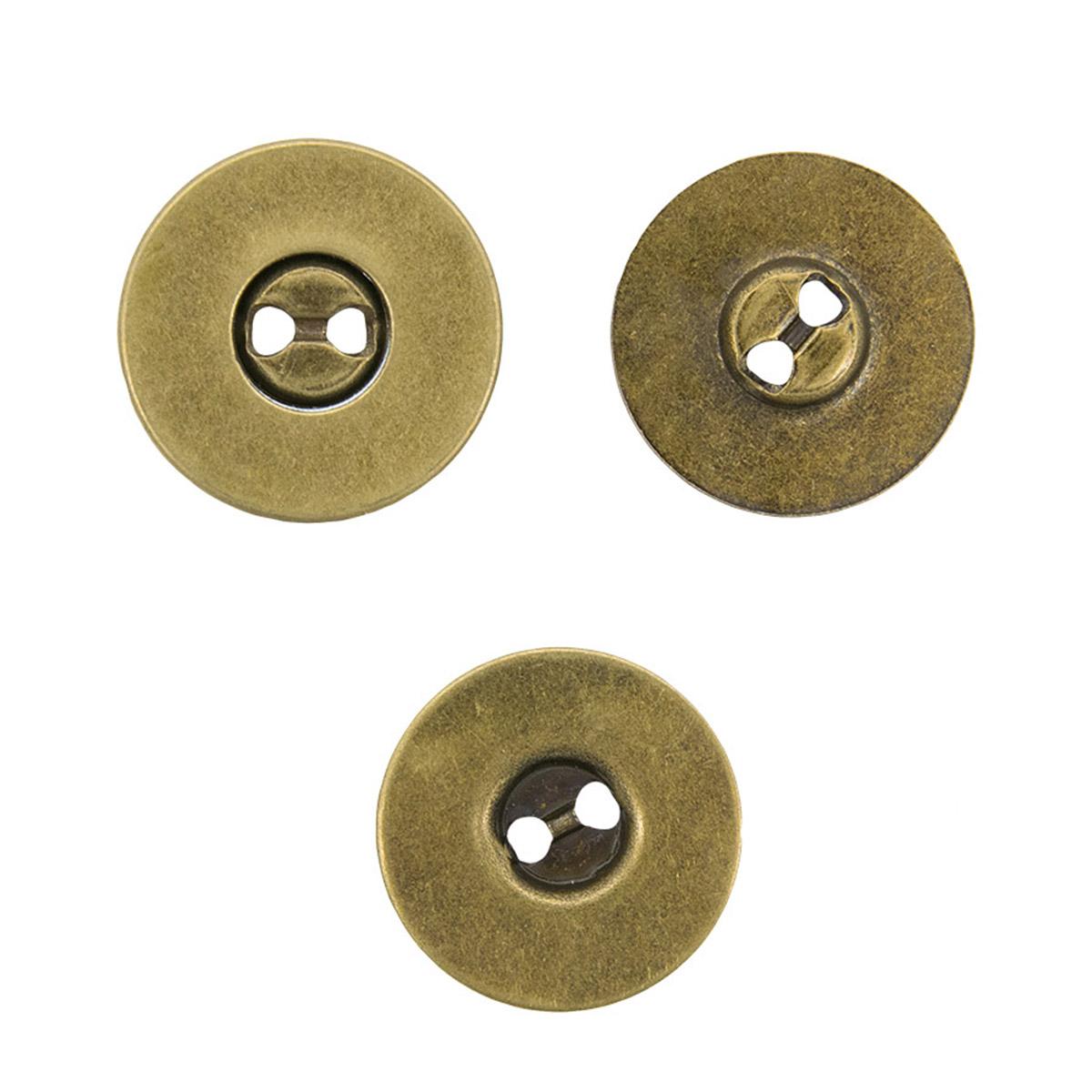 416472 Магнитные пуговицы, состаренная латунь, 19 мм, упак./3 шт., Prym