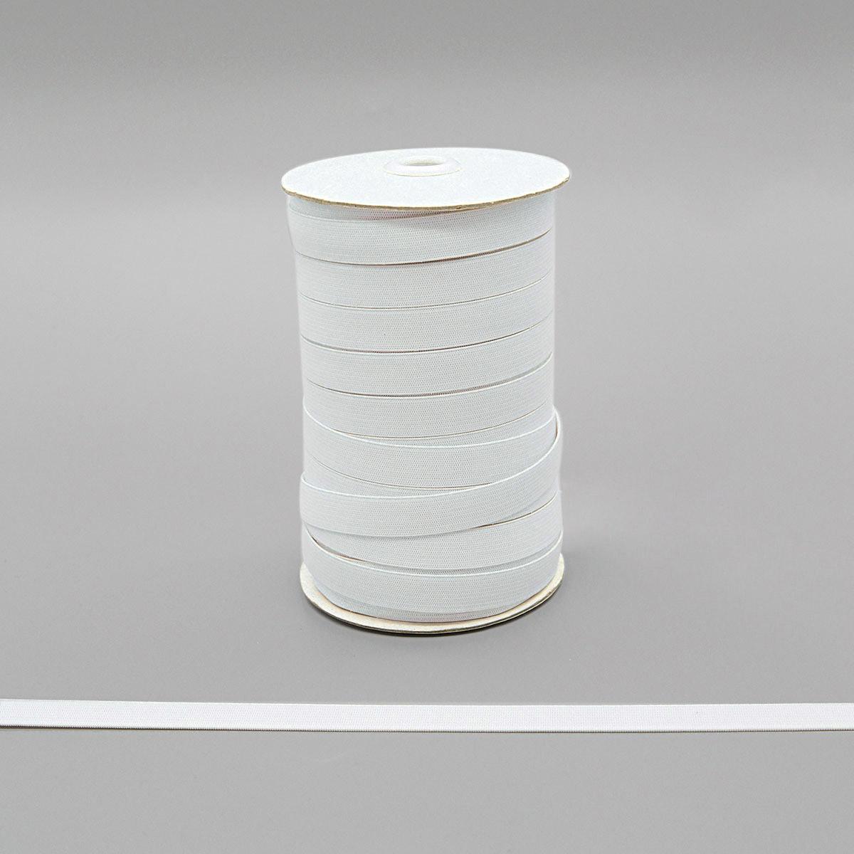 955353 Мягкая эластичная лента 15 мм белый цв. Prym