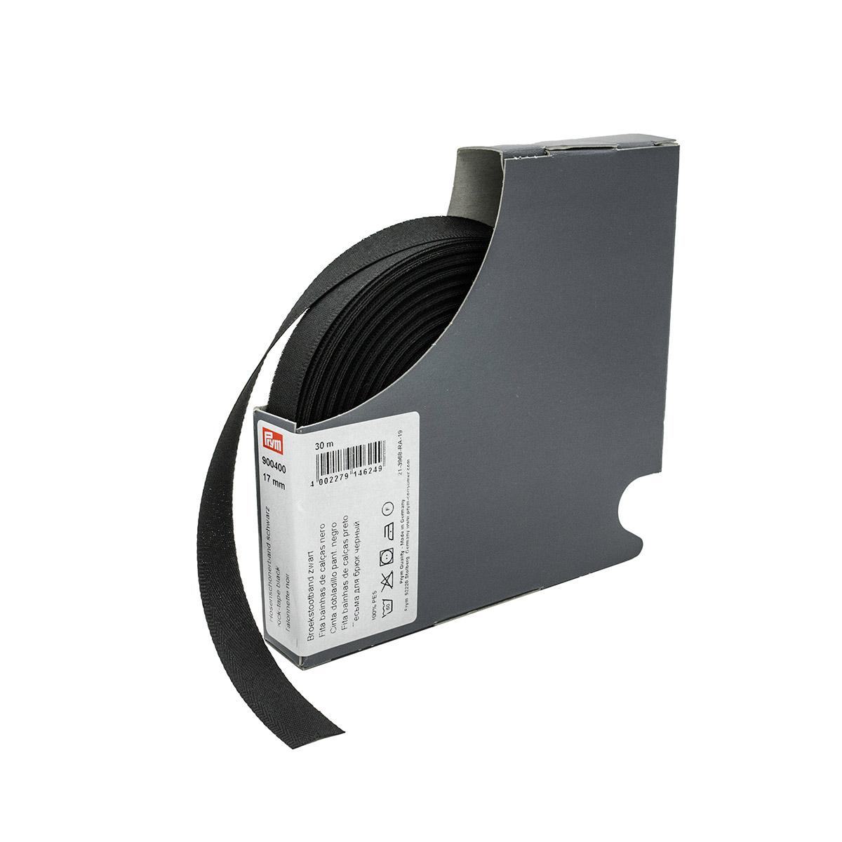 900400 Тесьма для брюк цв.черный 30м Prym
