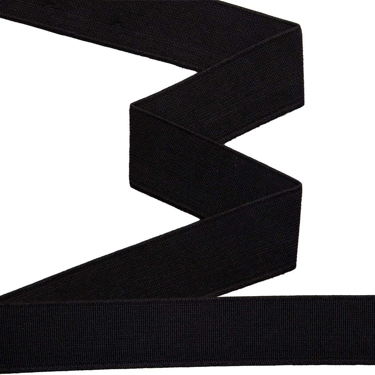 955241 Прочная эластичная лента 25 мм черный цв. *10м. Prym