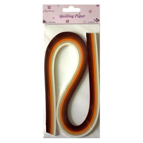 QP0312 Набор бумаги для квиллинга, 6 цветов, 3 мм по 540 мм, упак./120 шт., 'Рукоделие'