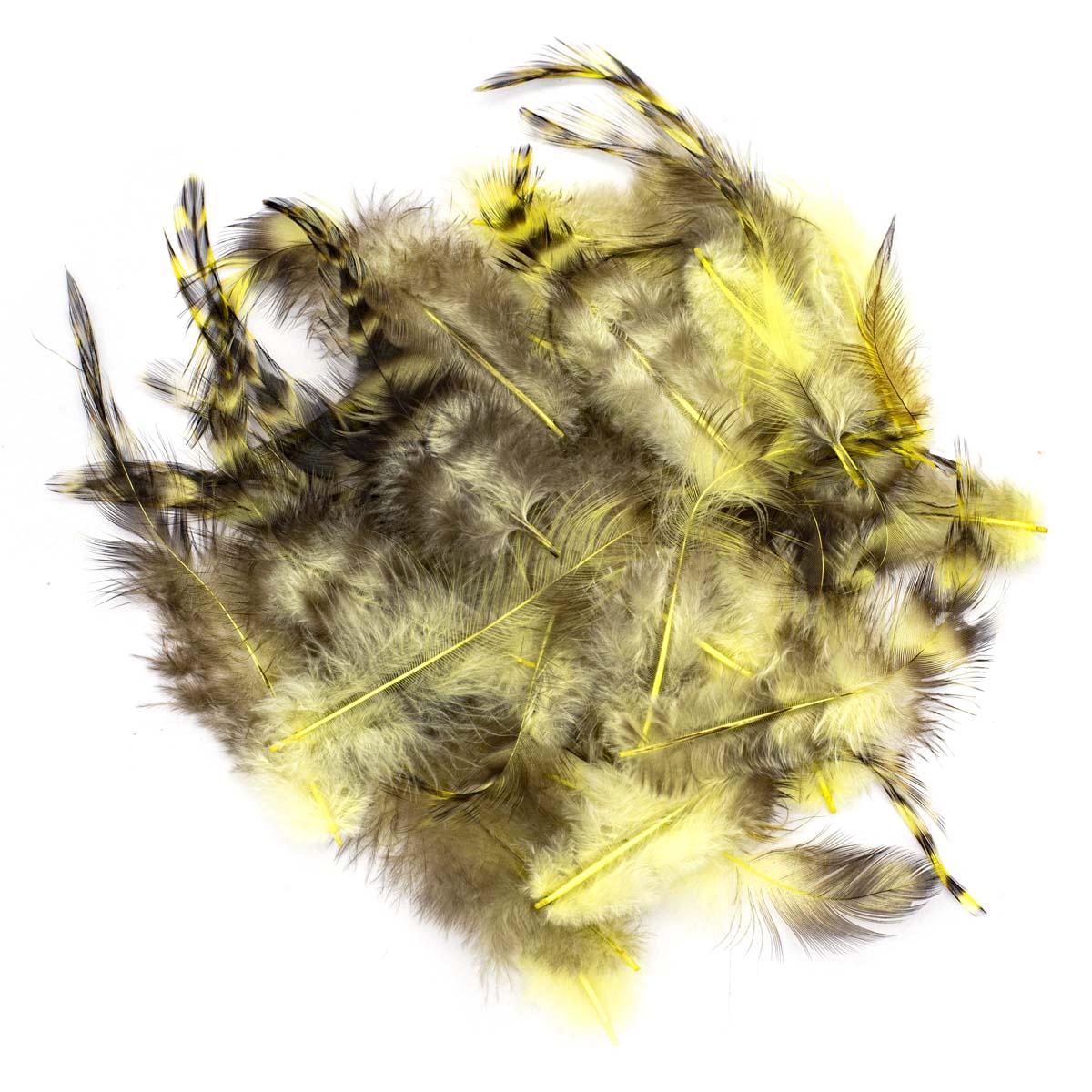63821002 Декоративные перья 15шт желтый Glorex