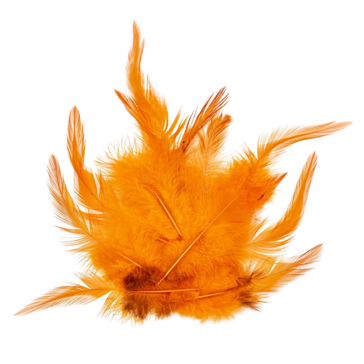 63821003 Декоративные перья 15шт оранжевый Glorex