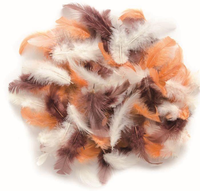 63821026 Декоративные перья коричневое ассорти 10г Glorex