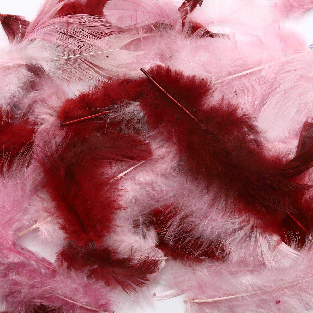 63821120 Декоративные перья розовое ассорти 2г, (30шт.+,-) Glorex