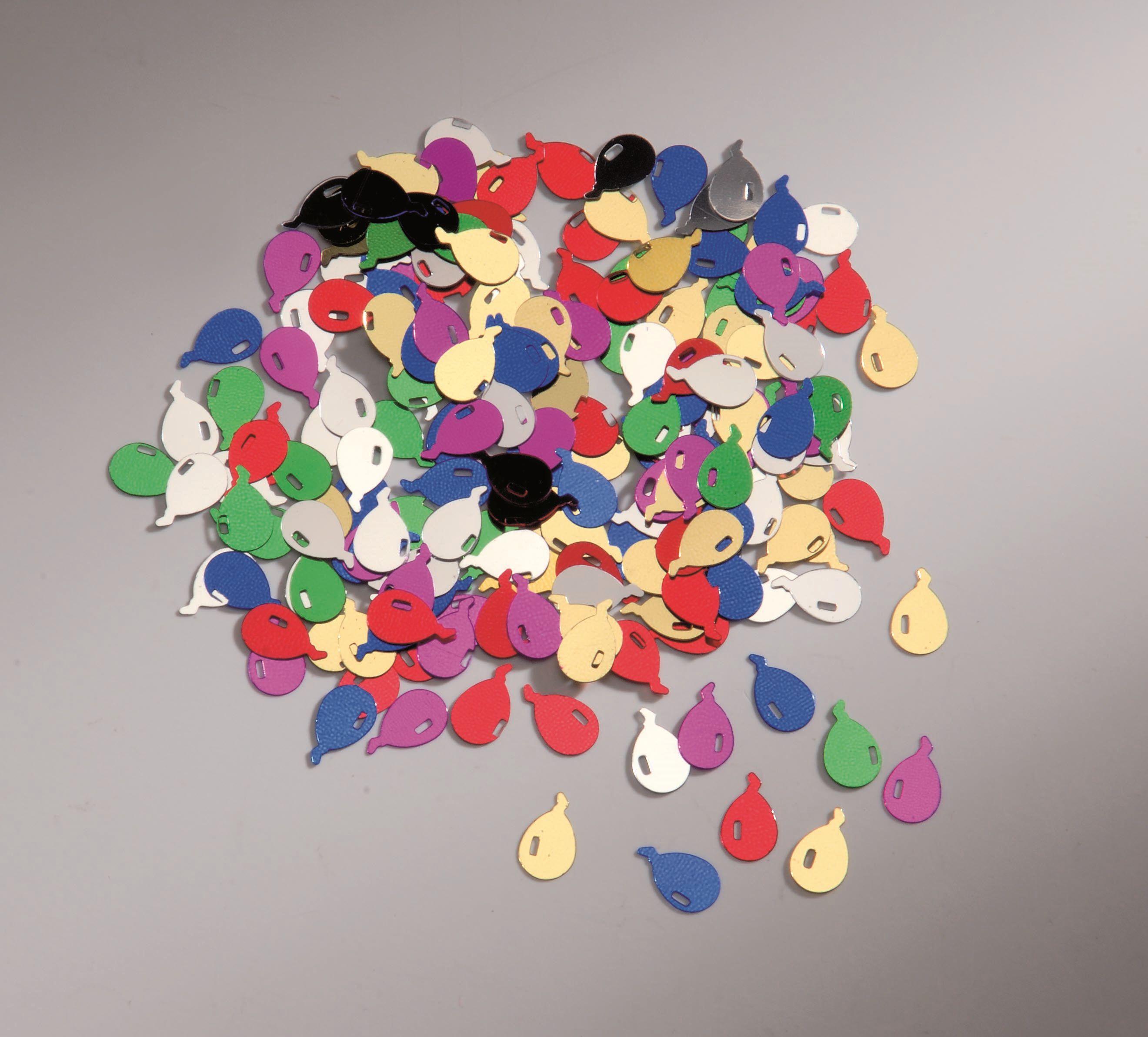 66300100 Пайетки 'Воздушные шары', разноцветный, 12 мм, упак./20 гр., Glorex