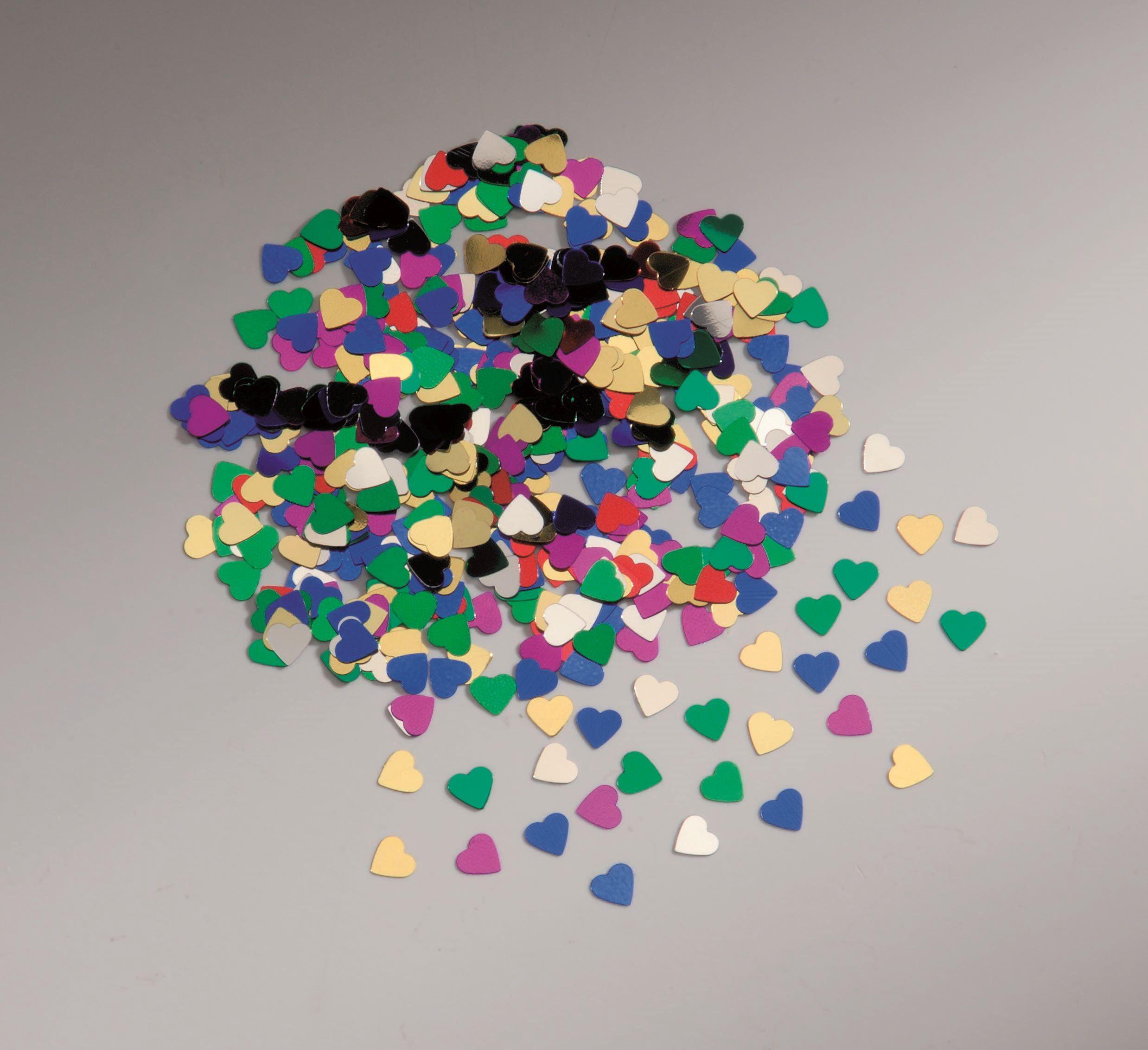66300200 Пайетки 'Сердца', разноцветный, 6 мм, упак./2 гр., Glorex