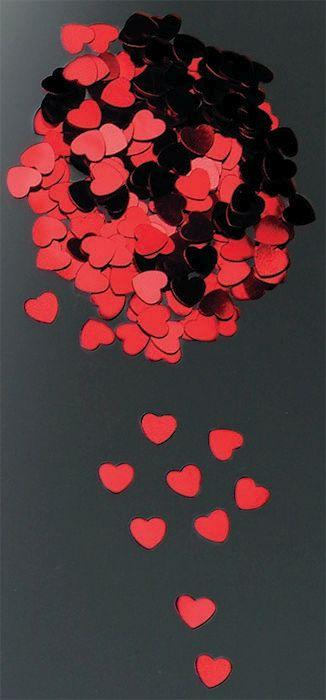 63800717 Блестки 'Сердечки', красные, Glorex