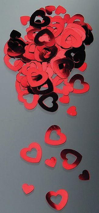 63800718 Блестки 'Сердца большие', красные, Glorex