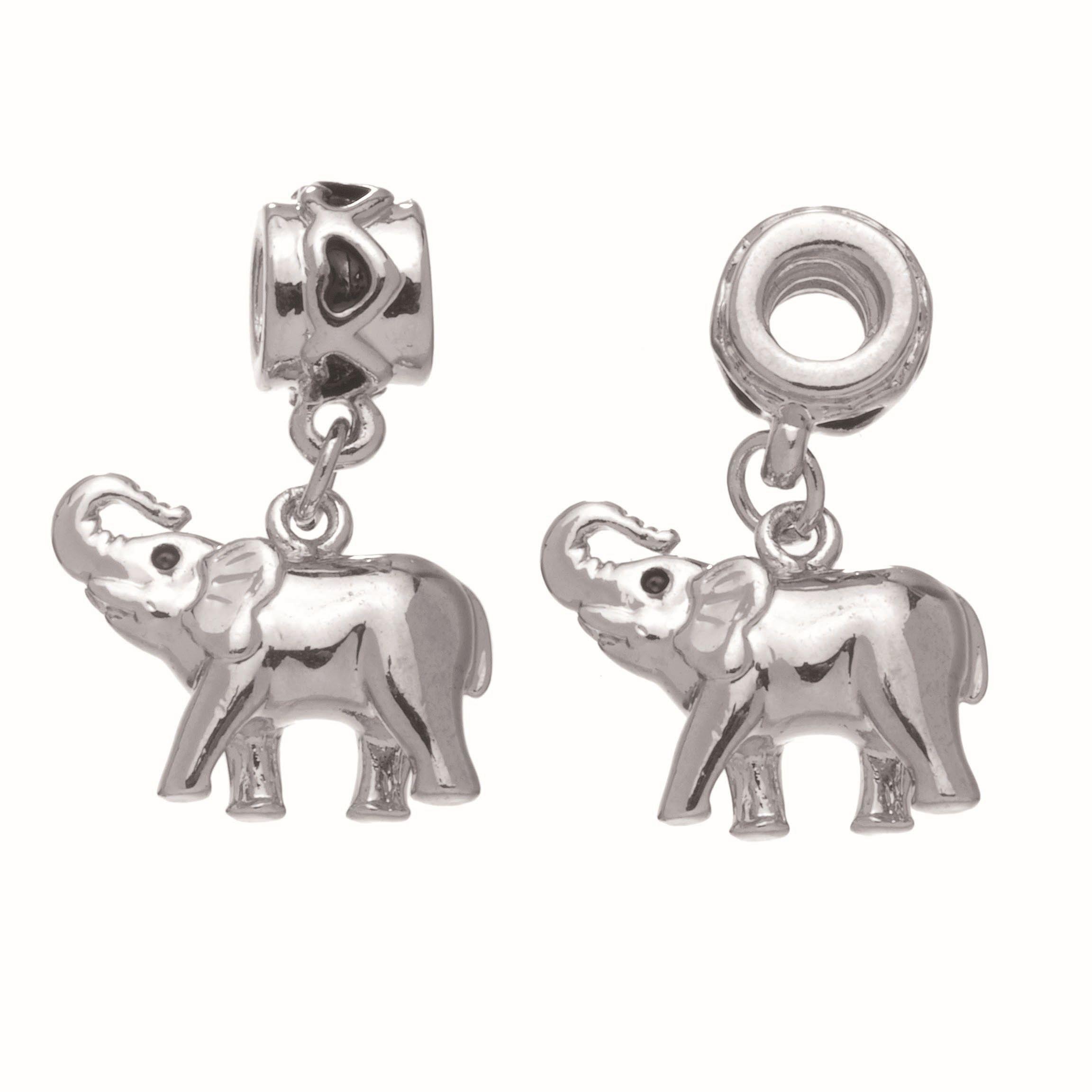63713006 Кулон для браслета Слон 1 шт серебро Glorex