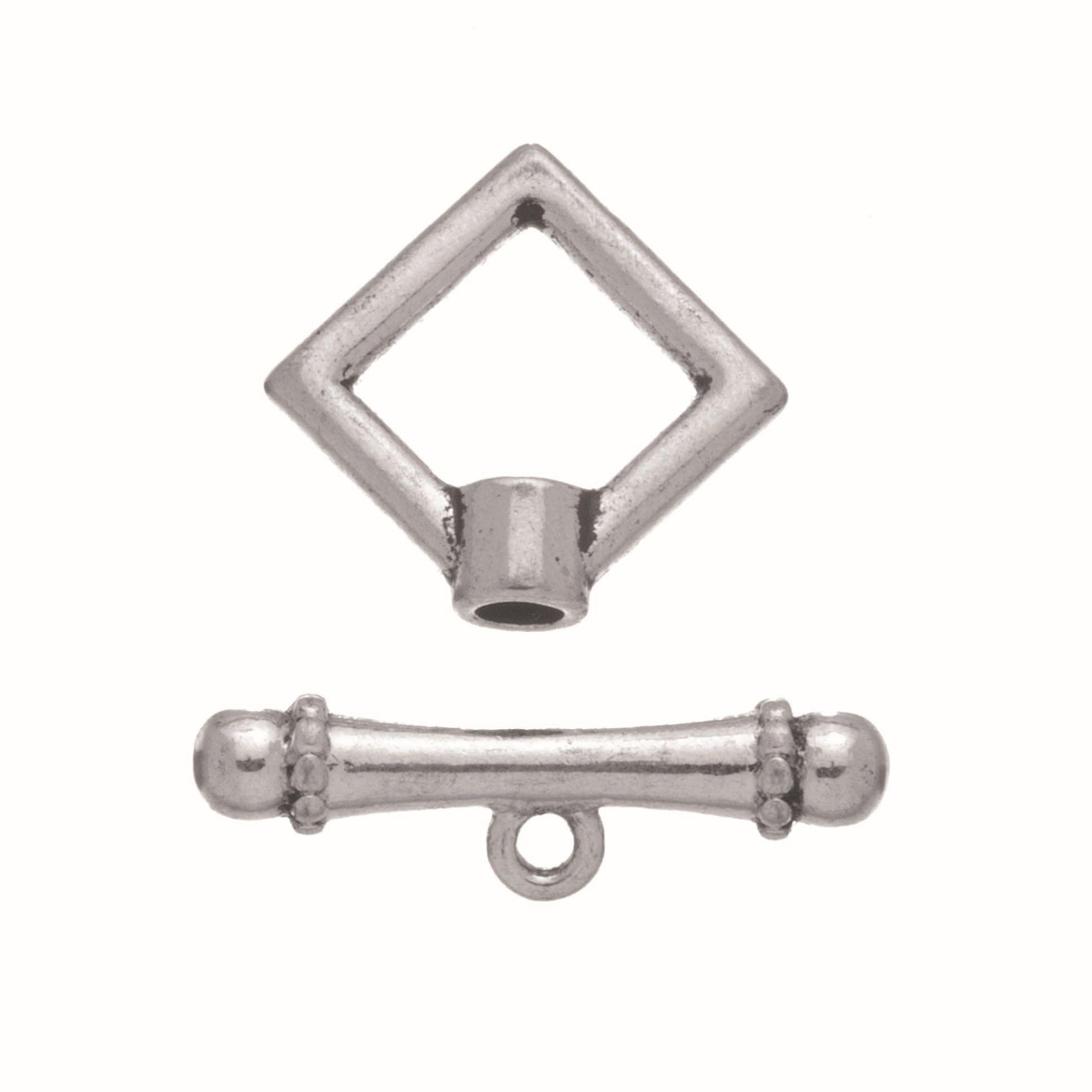63714004 Застежка металлическая квадратная 4шт серебро Glorex