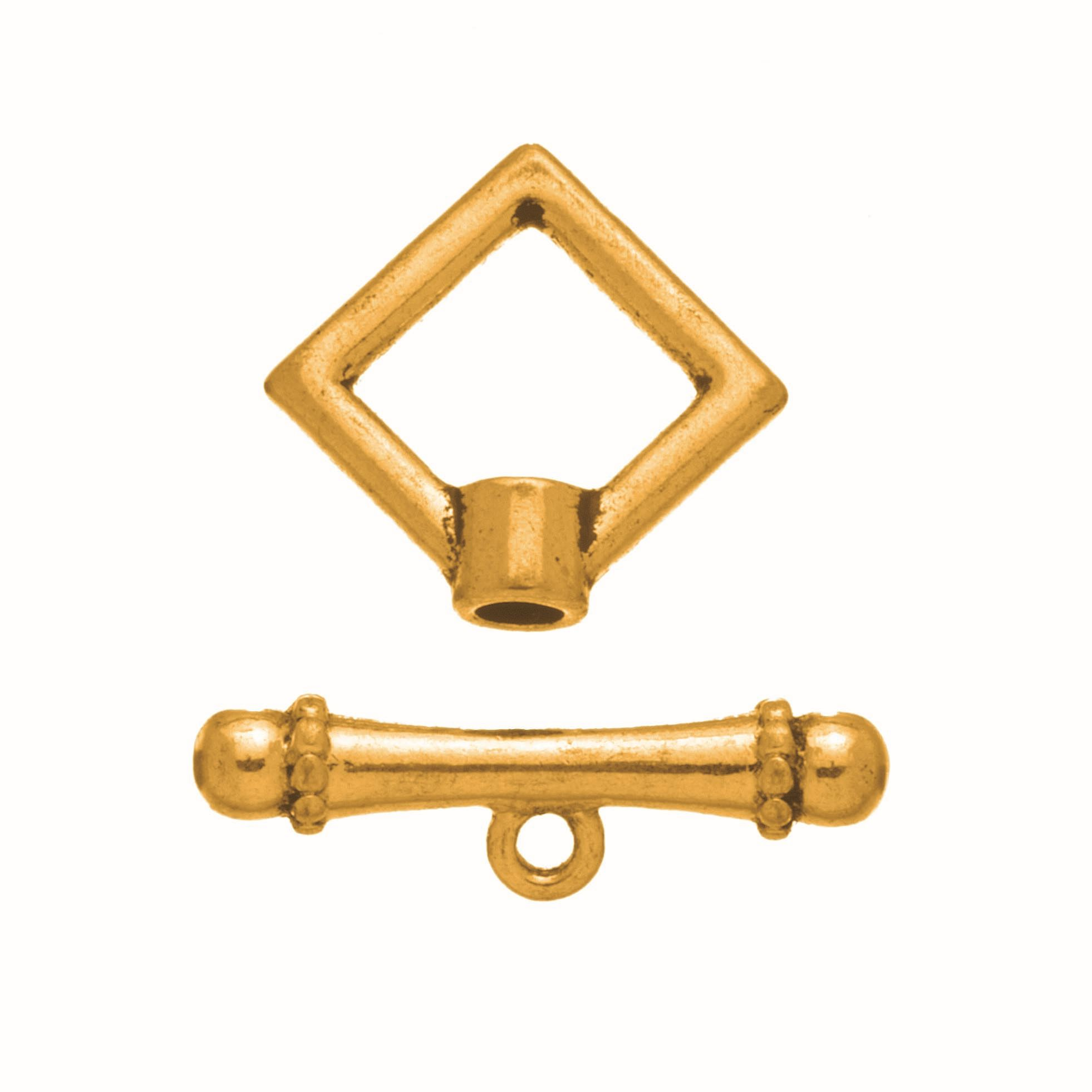 63714005 Застежка металлическая квадратная 4шт золото Glorex