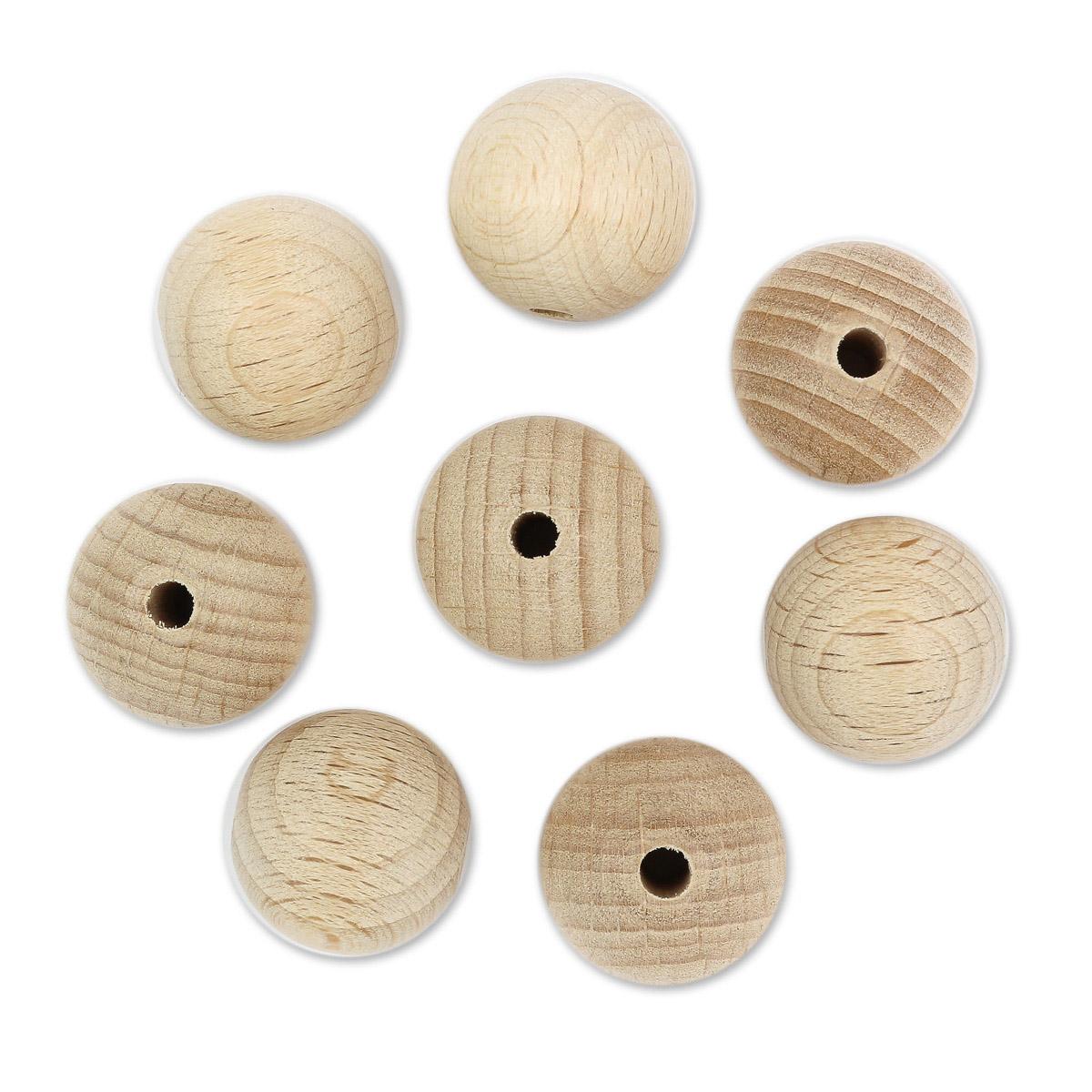 61657018 Деревянные шарики SGS-COC-003077 FSC-100%, 18 мм, упак./15 шт., Glorex