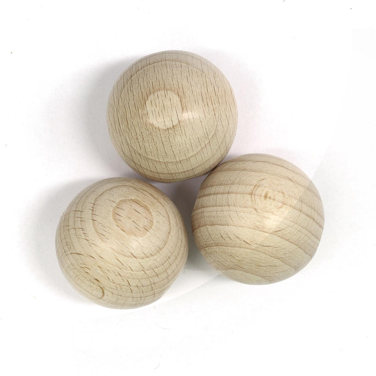 61657030 Деревянные шарики SGS-COC-003077 FSC-100%, 30 мм, упак./6 шт., Glorex