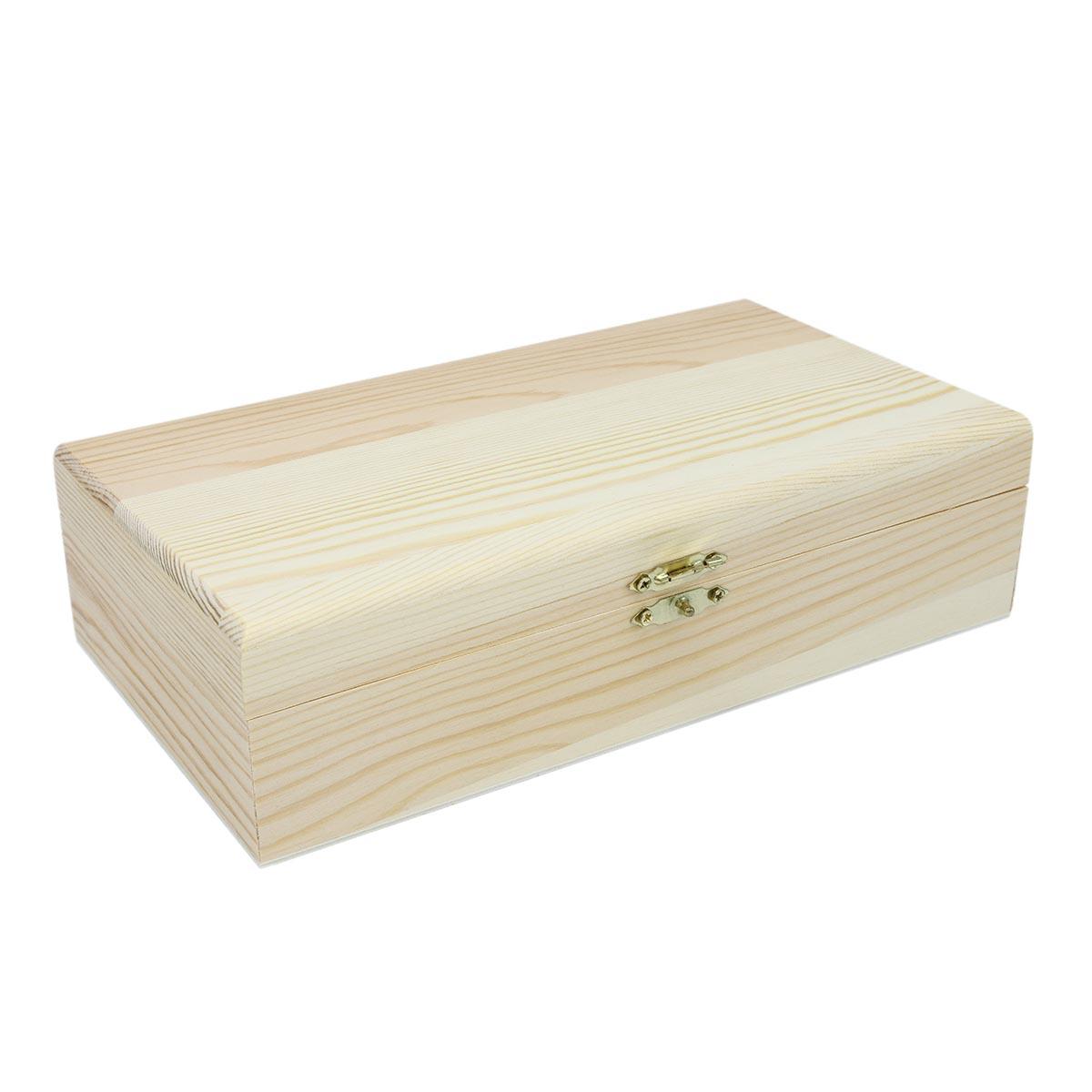 61682502 Деревянная шкатулка, 22,5*12,5*6 см, Glorex