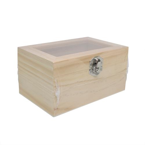 61682301 Деревянная шкатулка со стеклянной вставкой, 15*10*7,5 см, Glorex