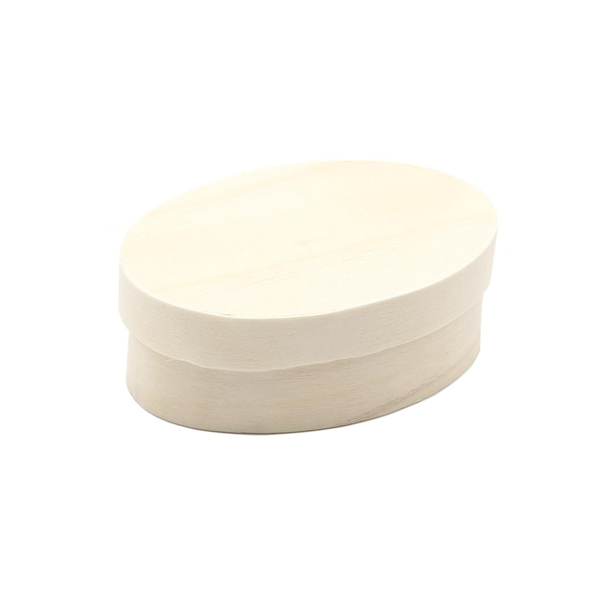 62004085 Деревянная шкатулка (овал), 5,5*8,5*3 см, Glorex