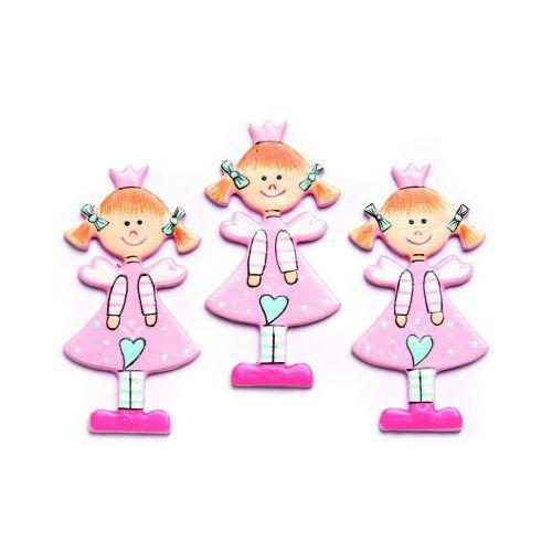 61710064 Фигурки из дерева 'Девочка', розовый, 45 мм, упак./9 шт., Glorex