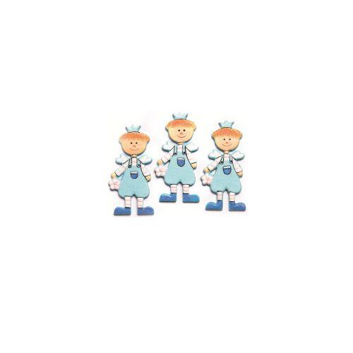 61710063 Фигурки из дерева 'Мальчик', светло-голубой, 45 мм, упак./9 шт., Glorex