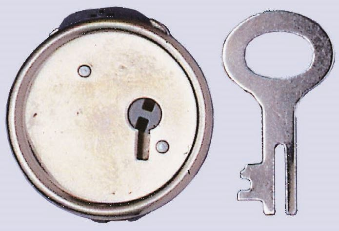 61834201 Замок (метал) с ключом, 40мм, 1 шт Glorex
