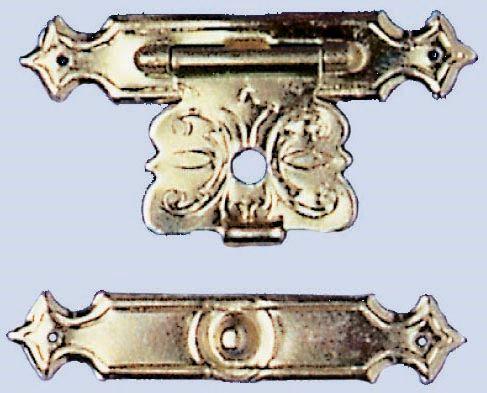 61834704 Замок для шкатулки (метал) 20x44мм, 2 шт Бабочка Glorex
