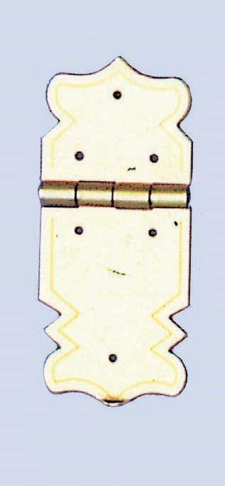 61833402 Замок (метал) с орнаментом 47x20мм, 2 шт Glorex