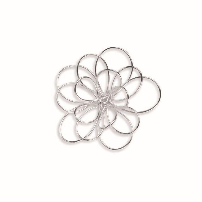 66402040 Цветок из проволоки 40мм, 1 шт , посеребренный Glorex