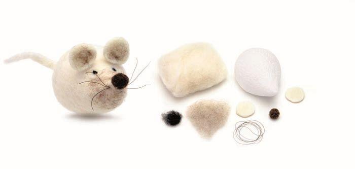 62902604 Набор для валяния 'Мышь', 12,0x6,0 см, Glorex