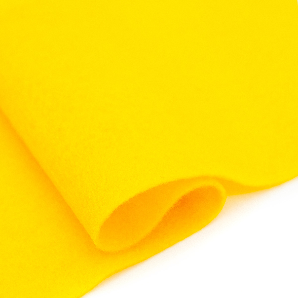 61212660 Фетр для творчества, желтый, 2мм, 20x30см, уп./1шт. Glorex