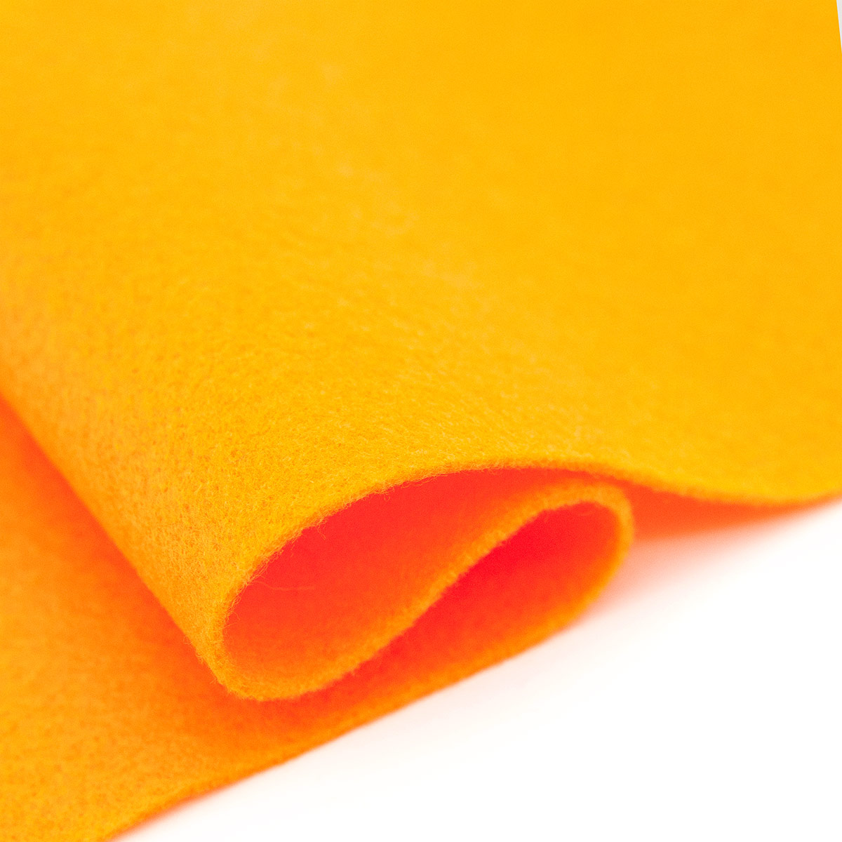 61212661 Фетр для творчества, оранжевый, 2мм, 20x30см, уп./1шт. Glorex