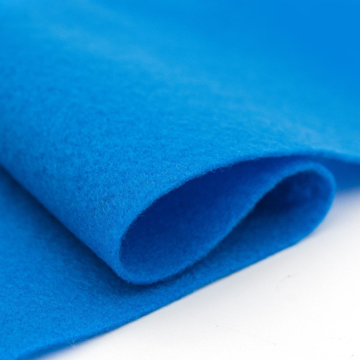 61212642 Фетр для творчества, голубой, 2мм, 20x30см, уп./1шт. Glorex