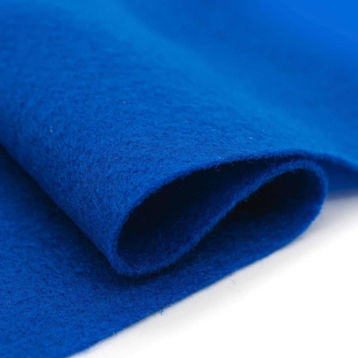 61212643 Фетр для творчества, синий, 2мм, 20x30см, уп./1шт. Glorex
