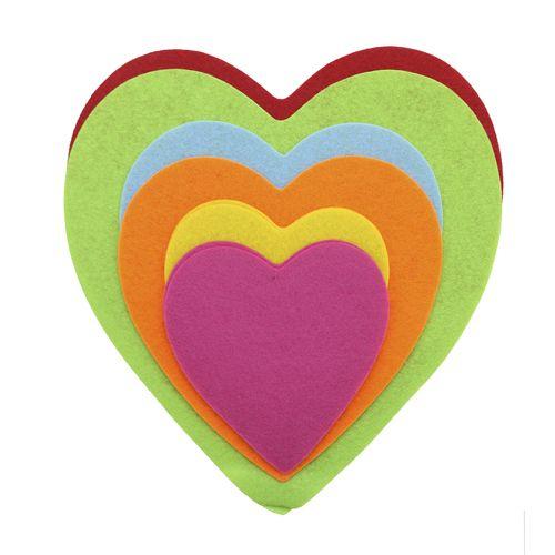 61212206 Фетр для творчества Сердце большое 8шт Glorex
