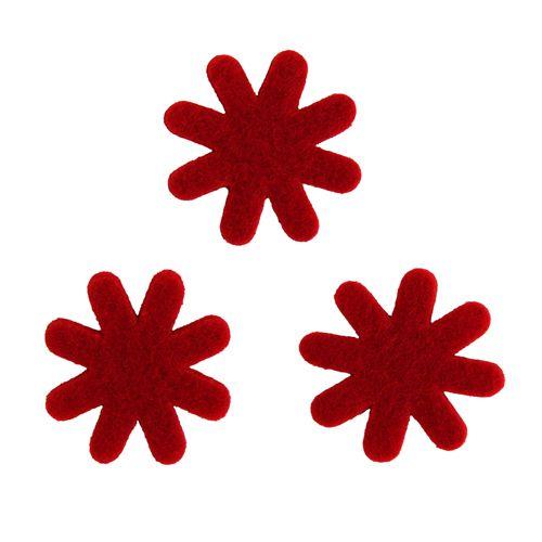 61212964 Цветок из фетра, 12шт, 30мм, цвет: красный, Glorex