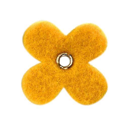 61213060 Цветок из фетра, 12 шт, 35мм, цвет: желтый, Glorex