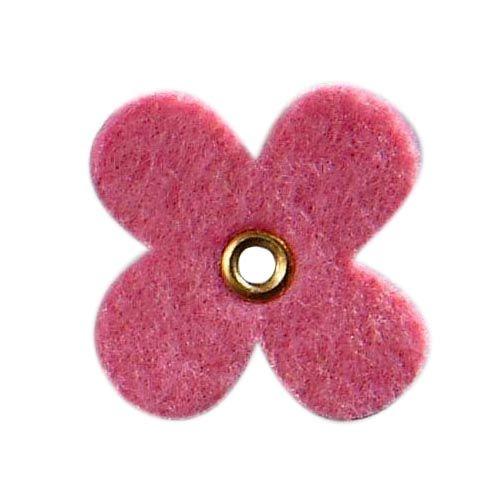 61213051 Цветок из фетра, 12шт, 35мм, цвет: розовый, Glorex