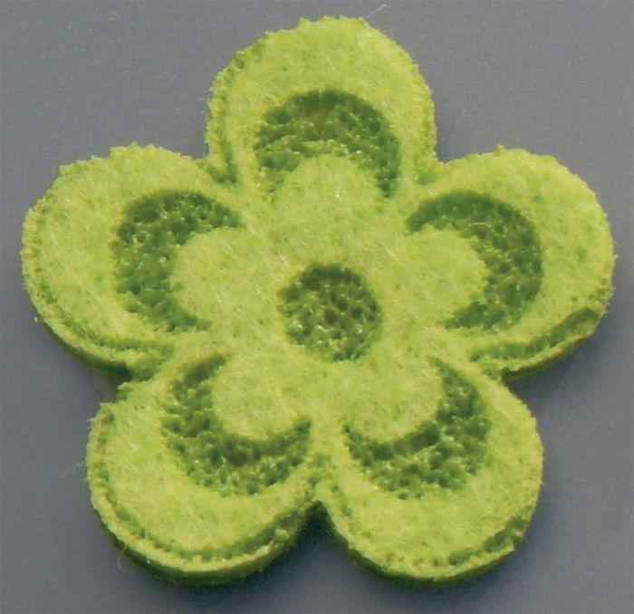 61215134 Цветы из фетра светло-зеленый 10шт Glorex