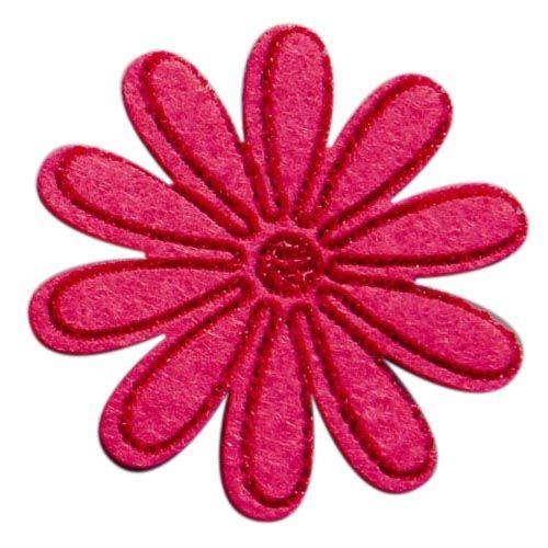 61215251 Цветы из фетра, 4шт, цвет: розовый, Glorex