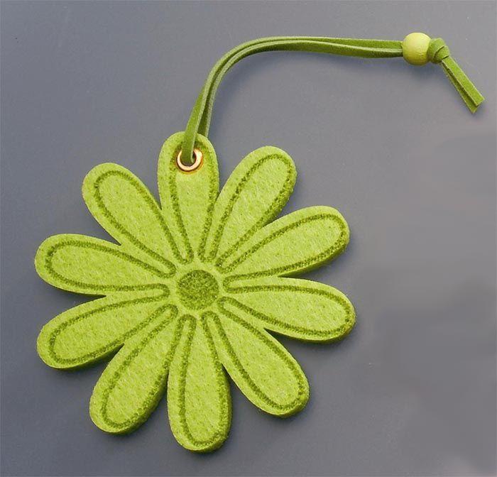 61215334 Цветы из фетра светло-зеленый 2шт с лентой Glorex