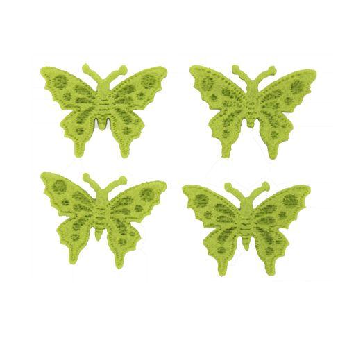 61215434 Бабочки из фетра, 10шт, цвет: светло-зеленый, Glorex
